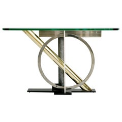 Vintage Geometric Console Table by Kaizo Oto