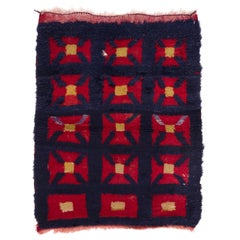 One-of-a-Kind Vintage Tulu Rug with Crosses