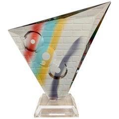 Vintage Geometric Lucite Sculpture