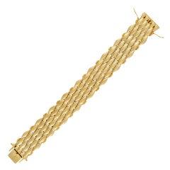 Vintage Georg Jensen 18 Karat Gold Bracelet 350 Wide Version