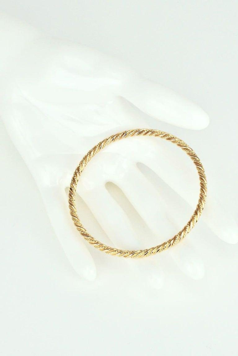 Vintage Georg Jensen 18 Karat Yellow Gold Bangle Bracelet, 1950s In Good Condition For Sale In Sydney, NSW