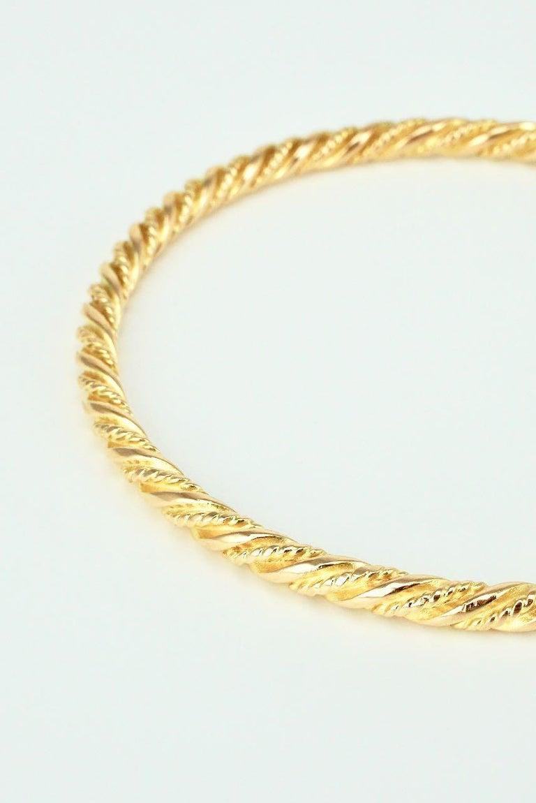 Women's Vintage Georg Jensen 18 Karat Yellow Gold Bangle Bracelet, 1950s For Sale
