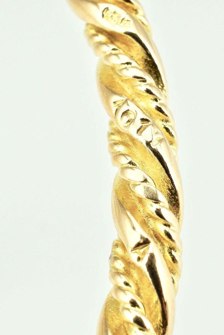 Vintage Georg Jensen 18 Karat Yellow Gold Bangle Bracelet, 1950s For Sale 2