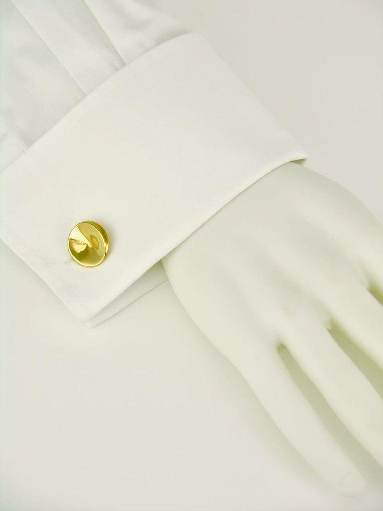 Vintage Georg Jensen 18 Karat Yellow Gold Cufflinks, Design 1074C Nanna Ditzel For Sale 3