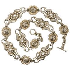 Vintage Georg Jensen Danish Sterling Silver Choker Necklace No. 10