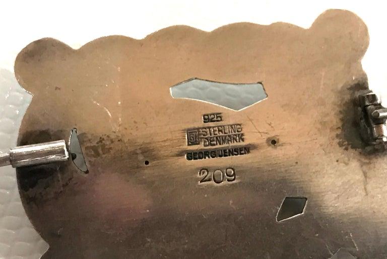 Modernist Vintage Georg Jensen Dove Bird Sterling Silver Brooch Pin #209 Estate Find For Sale