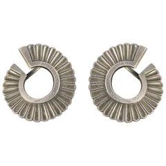 Vintage Georg Jensen Silver Screw Back Earrings in Silver Sterling