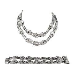 Art Nouveau Link Bracelets