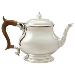 Vintage George I Style Sterling Silver Teapot by Elkington & Co.