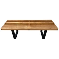 Vintage George Nelson Style Slat Bench Coffee Table