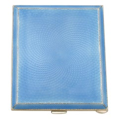 Sterling Silver and Enamel Cigarette Case