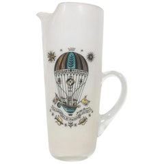 "Vintage Georges Briard Cocktail Pitcher ""The Higher You Go, The Harder You Fall"""