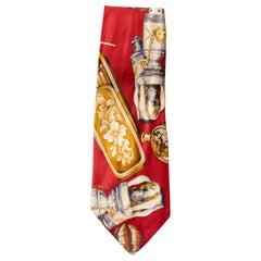 Vintage Gerani 100% silk tie with particular designs