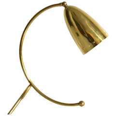 Vintage German 1950s Stilnovo Style Brass Table Lamp