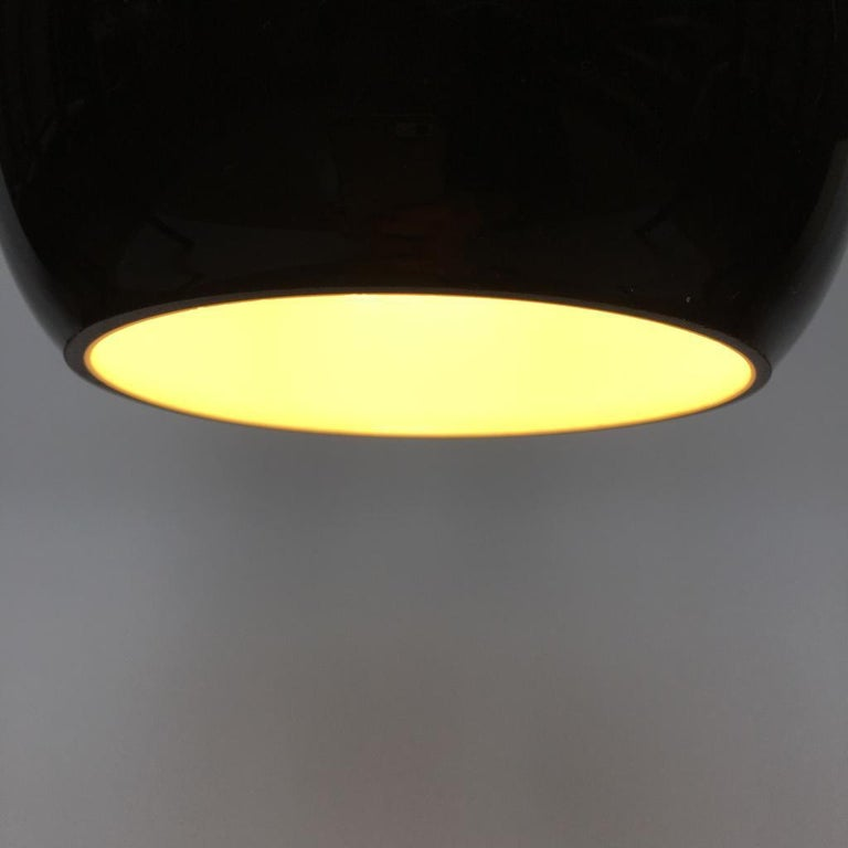 Vintage German Black Glass Pendant Lighting, 1970s For Sale 3