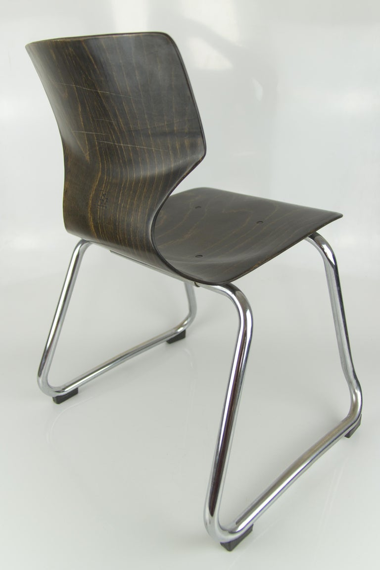 Vintage German Chairs by Elmar Flötotto for Pagholz Flötotto, 1970s, Set of 8 For Sale 10