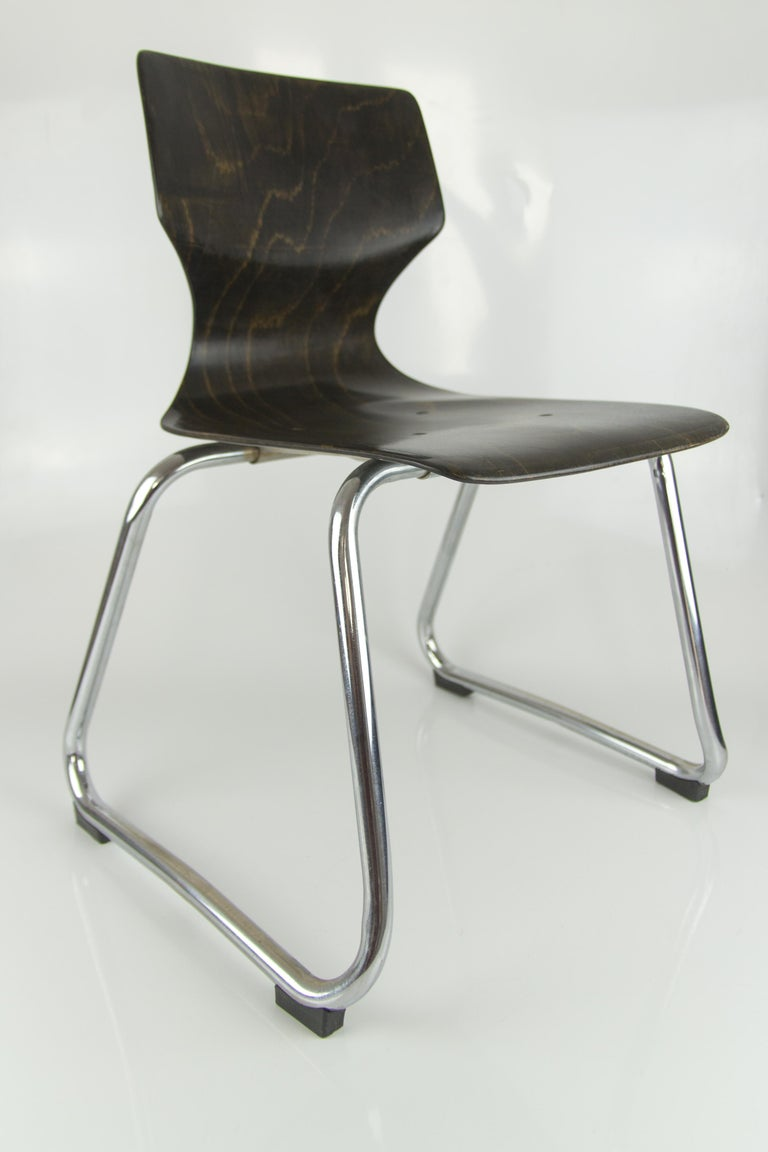Vintage German Chairs by Elmar Flötotto for Pagholz Flötotto, 1970s, Set of 8 For Sale 11