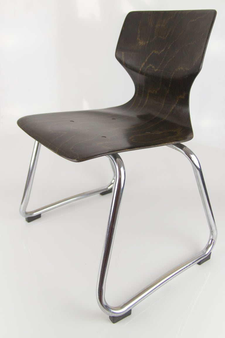 Vintage German Chairs by Elmar Flötotto for Pagholz Flötotto, 1970s, Set of 8 For Sale 14