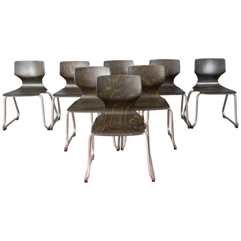 Vintage German Chairs by Elmar Flötotto for Pagholz Flötotto, 1970s, Set of 8 For Sale