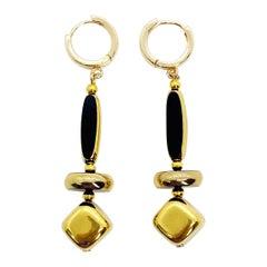 Vintage German Glass Beads, The Floating Art Deco Earrings