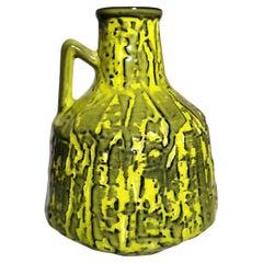 "Vintage German Handle Jug 'Or Vase' ""Fat Lava"" Style"