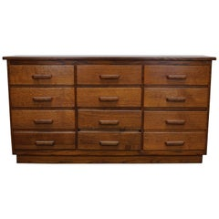 Vintage German Oak Apothecary Cabinet, 1930s
