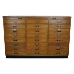 Vintage German Oak Apothecary Cabinet, circa 1950s