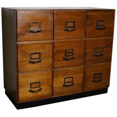 Vintage German Pine Apothecary Cabinet, 1950s