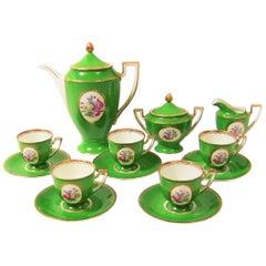 Vintage German Porcelain Royal Tettau Complete Coffee Service