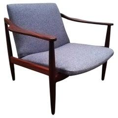 Vintage German Teak Lounge Chair by Hartmut Lohmeyer for Wilkhahn, 1950s