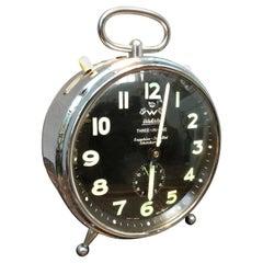 Vintage German Wehrle Three-in-one Extra Large Alarm Clock
