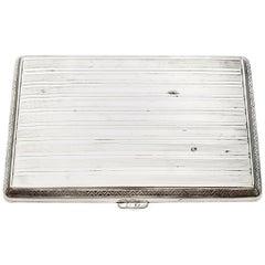 Vintage Germany 800 Silver Banded Cigarette Case