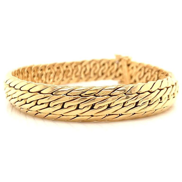Women's or Men's Vintage Germany Tiffany & Co. 18K Gold Woven Bracelet