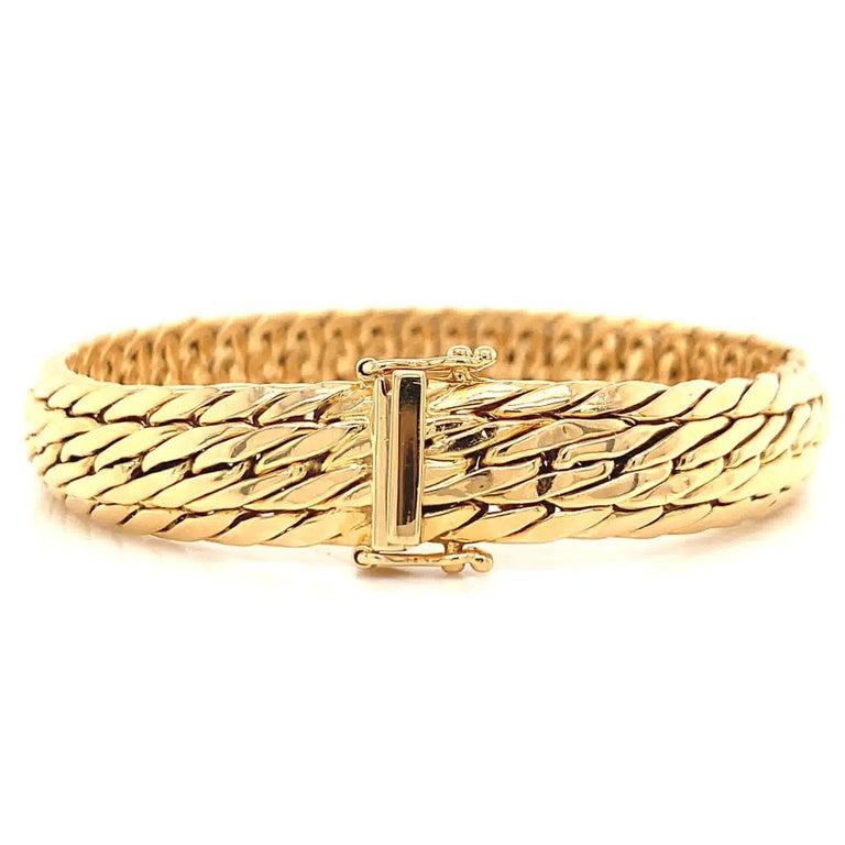 Vintage Germany Tiffany & Co. 18K Gold Woven Bracelet 1