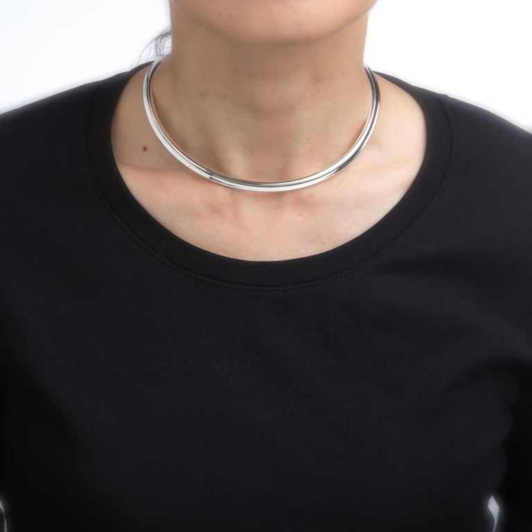Vintage Gianmaria Buccellati Neck Collar Sterling Silver Choker Statement Fine In Excellent Condition For Sale In Torrance, CA