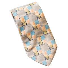 Vintage Gianni Versace all-silk pastel tie