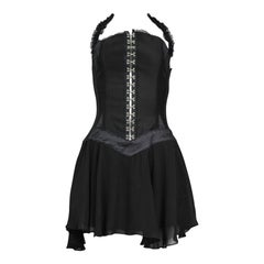 Vintage Gianni Versace Black Corset Dress 1995