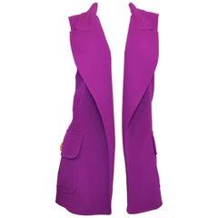 Vintage Gianni Versace Couture Purple Sleeveless Blazer/Vest