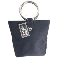 Vintage Gianni Versace Couture Top Handle Metal Ring Handbag, 1990s