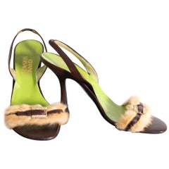 Vintage Gianni Versace Leather Shoes 1990s