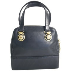 Vintage Gianni Versace Leather Top Handle Bag, 1990s