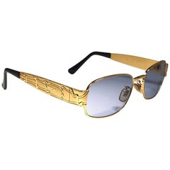 Vintage Gianni Versace Mod X 06 Oval Small Sunglasses 1990's Made in Italy