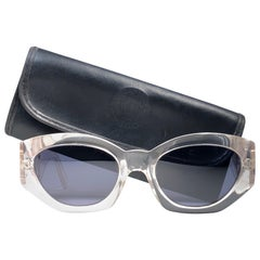 Vintage Gianni Versace Translucent 420B Sunglasses 1990's Made in Italy