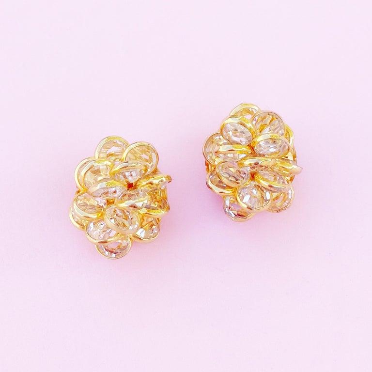 - Vintage item  - Each earring measures .75