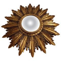Vintage Gilded resin Sunburst Mirror, 1960s