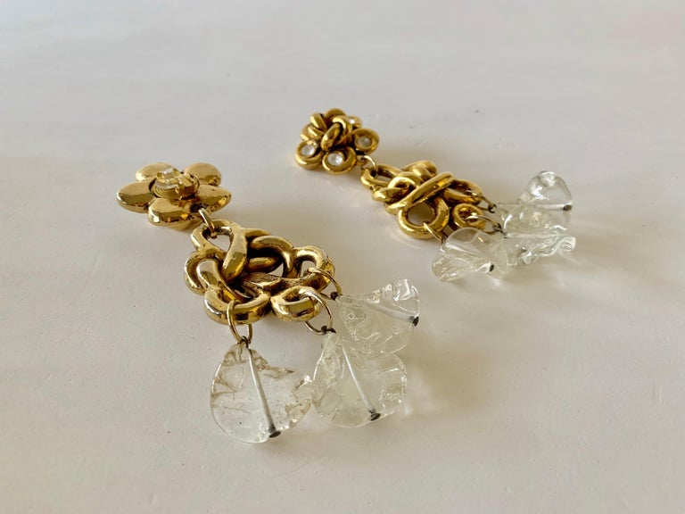Vintage Gilt knotted French Statement Earrings  For Sale 5