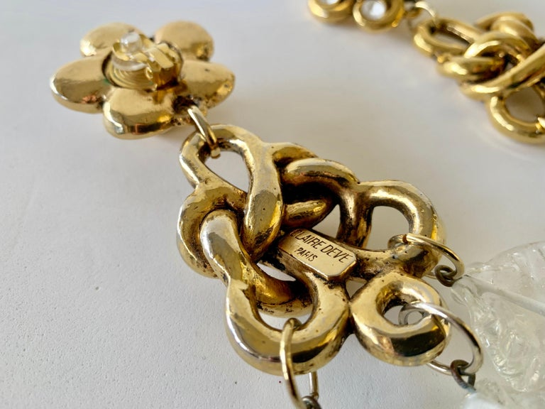 Vintage Gilt knotted French Statement Earrings  For Sale 6