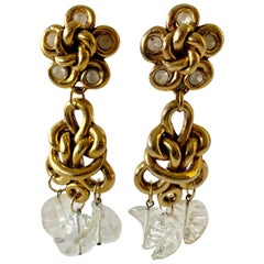 Vintage Gilt knotted French Statement Earrings