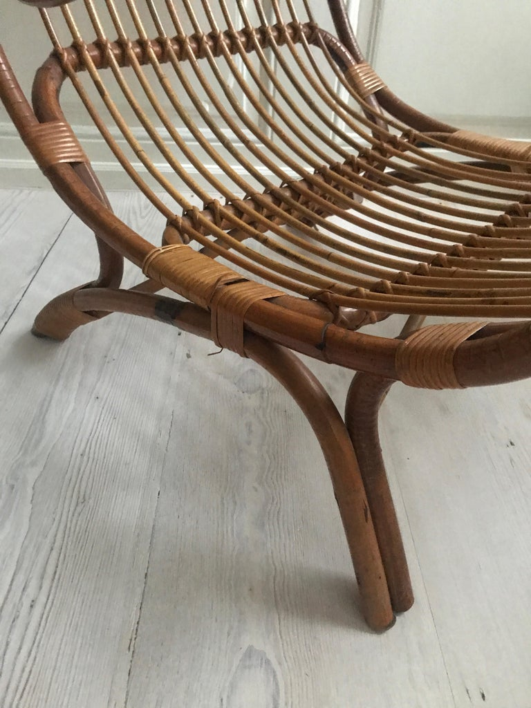 Italian Vintage Gio Ponti 'BP 16' Continuum Armchair in Bamboo, Italy, 1963 For Sale