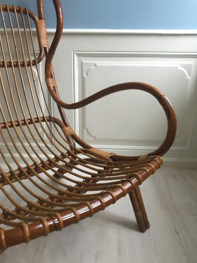 Vintage Gio Ponti 'BP 16' Continuum Armchair in Bamboo, Italy, 1963 For Sale 1